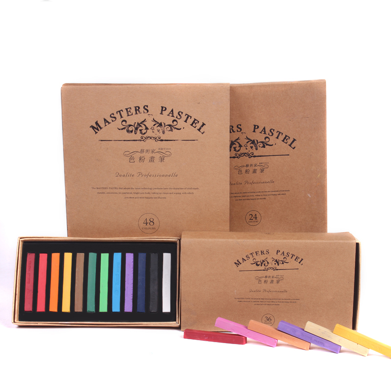 Marie 39 s color chalk 12 24 36 48 color chalk paint painting hand painted student pastel pen beginner painting set art supplies in Crayons from Office amp School Supplies