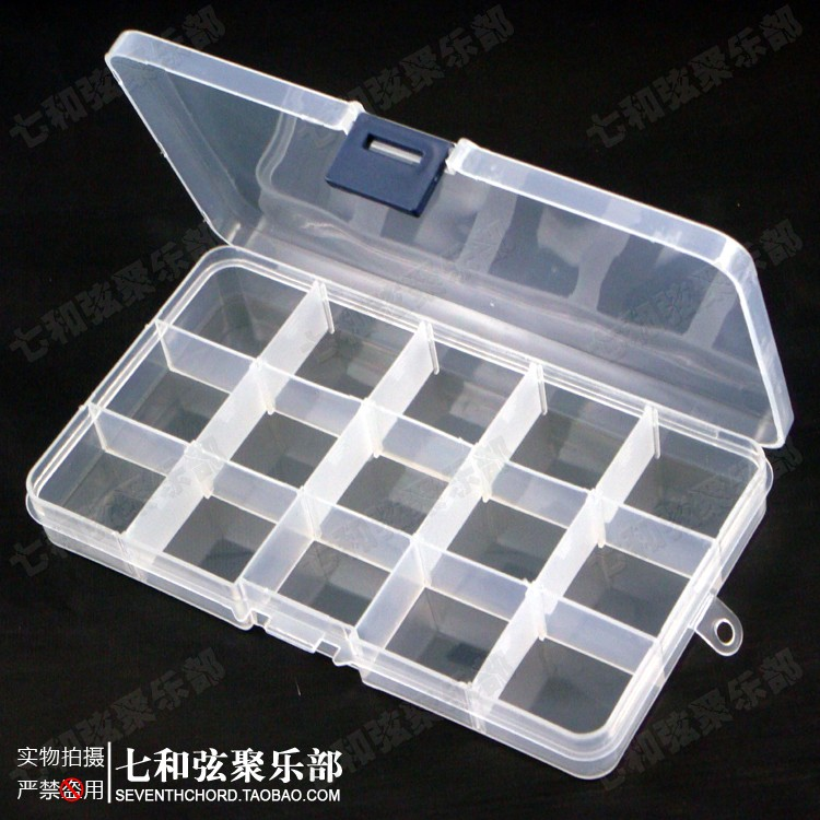 Exceptionnel 2 PCS Guitar Picks Case Storage Box,15 Grids Cell Transparent Plastic Guitar  Accessories DIY Tools Storage Box,15G SN 2 In Guitar Parts U0026 Accessories  From ...