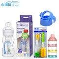Prevenir la hinchazón biberón boca ancha bebé recién nacido botella de vidrio de color de cristal botella botellas de bebé trajes