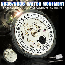Watch Movement Fully Automatic High Accuracy Mechanical Movement For Wristwatch Winding NH35 NH36 Watch Movement Day Date Set