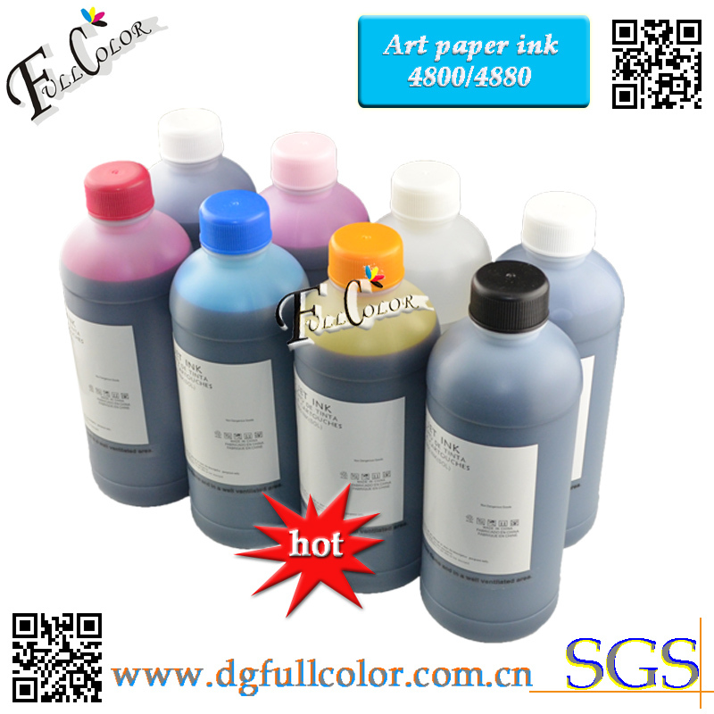 цены Free shipping! 8 Color 500ml Bottle High Quality Art Pigment Ink For EPSON 4800 4880 Wide Format Printer Coat Paper ink