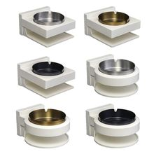 Multifunctional Stainless Steel Wall Mounted Ashtray Adhesive Bin Ash Holder Smoking Box For Bathroom Toilet Hotel Office