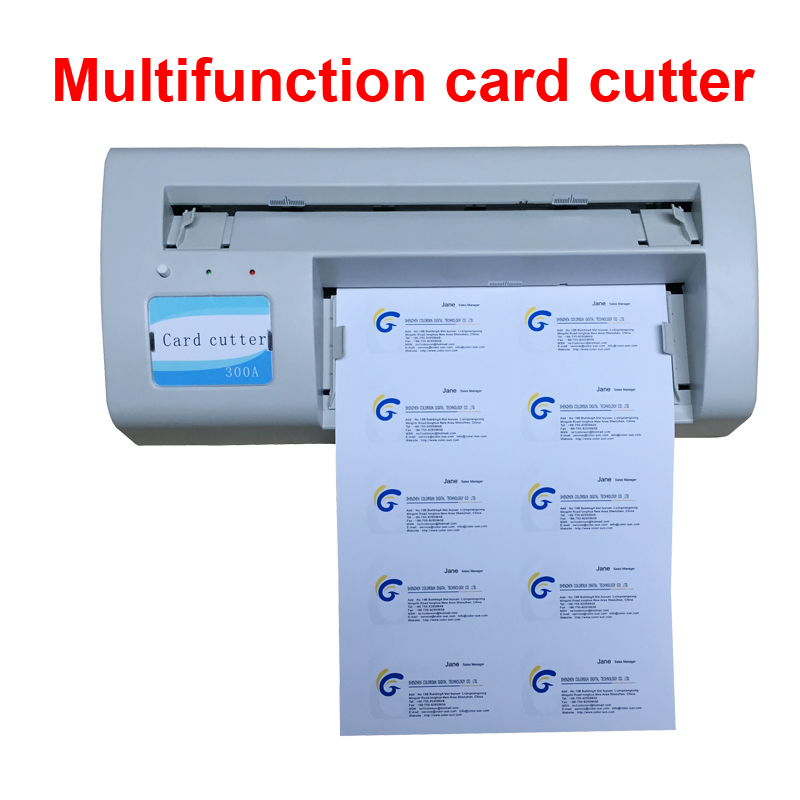 cutter life more than 10000 times machine precision less than 05mm power 220v gross weight 6kg application on business cards - Business Card Cutter