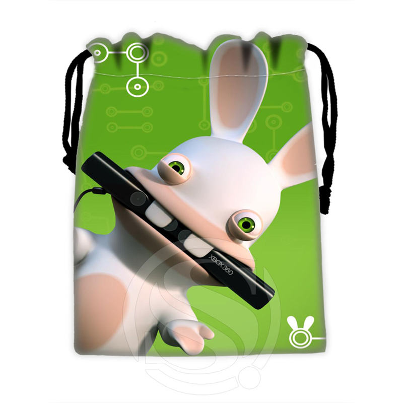 New Arrive Custom Rayman Raving Rabbids #3 Drawstring Bags For Mobile Phone Tablet PC Packaging Gift Bags18X22cm SQ00715-@H0324