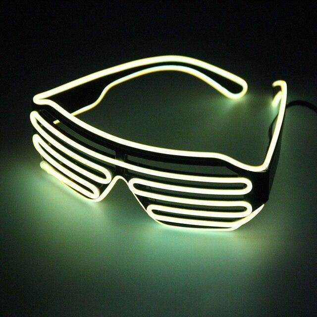 Neon LED Light Up Shutter EL Draht Gläser Leuchten Rahmen Dance ...