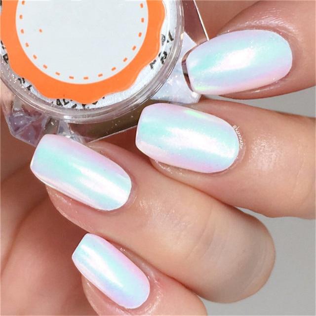 0.2g Unicorn Mermaid Powder Nail Art Glitter Chrome Pigment Powder Dust for Nail  Art Decoration - 0.2g Unicorn Mermaid Powder Nail Art Glitter Chrome Pigment Powder
