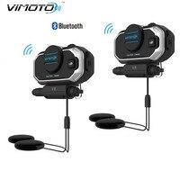 Motorcycle Helmet Bluetooth Headset Vimoto V8 850mAh Multi Function BT Interphone Motorbike Stereo Headphones For Two
