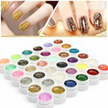 36 Colors Sequins Glitter LED UV Nail Gel Long Lasting UV Gel Lacquer DIY Nail Art Colorful Nail Gel UV Gel UV LED Lamp Curing