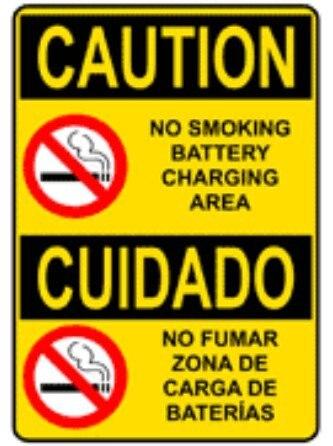 200 шт 15x20 см внимание не курить зарядки аккумулятора области предупреждающие знаки, арт. CA18