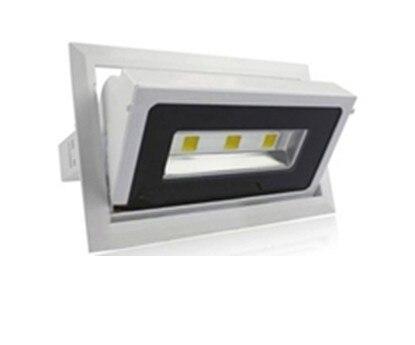 square 30W COB led downlights high power  square downlight rotate the angle  AC85 265V|light barn|light cord|light travel - title=