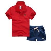 جودة عالية 2 قطع للأطفال الأولاد ملابس الصيف طفل الفتيان الملابس مجموعة طفل رضيع ملابس الأطفال الملابس يحدد تي شيرت + السراويل
