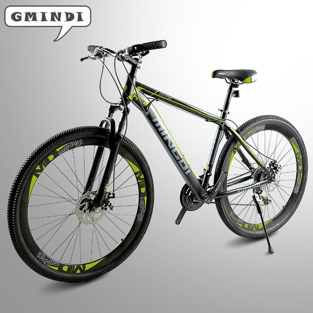 С высоким содержанием углерода стальная рама, 21 скорость велосипеда, 29 дюймов горный велосипед, передний и задний механический дисковый тормоз на безвозмездной основе