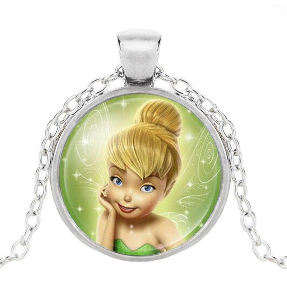 Новая мода популярное женское ожерелье Кристалл ювелирные изделия выпуклая круглая Принцесса Подвеска Ожерелье Девушка - Окраска металла: 7