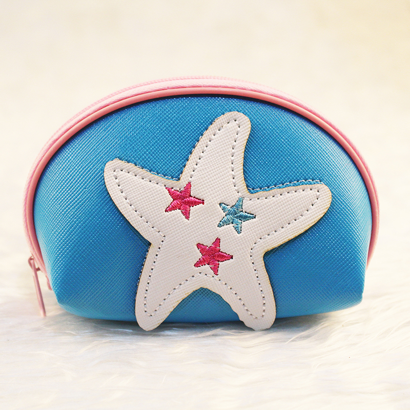 US $2 0 |Rainbowgirl Yellow Sea Star Coin Purse 6 Color Purse Small semi  circle Card Holder Best Gift for friends Fashion starfish wallet-in Coin