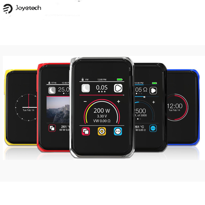 100% Original Joyetech Cuboid Pro Touchscreen 200W Box Mod Powered by Dual 18650 Cells Support RDA RBA