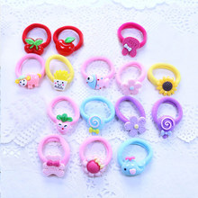 2pcs/1lot Cute Hair Accessories Sweet Hairball Girls Elastic Bands Headwear Baby Rubber little girls Rope ties