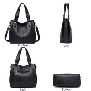 Image 3 - Новая роскошная Брендовая женская кожаная сумка из натуральной кожи, повседневные сумки тоут высокого качества из мягкой овчины, женские большие сумки на плечо
