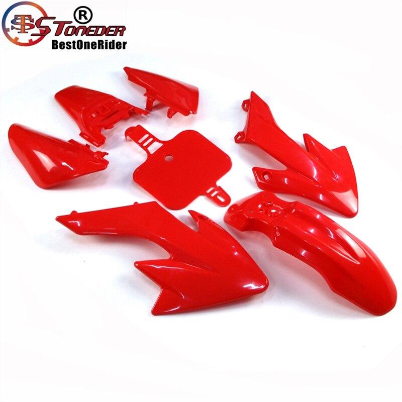 Race-Guy Red Strength Plastic Fairing Body Cover Kits For Honda XR50 CRF50 Piranha SSR Thumpstar Stomp Coolster Pitsterpro Braaap SDG GPX DHZ CRF50 XR50 50cc 70cc 90cc 110cc 125cc 140cc 150cc 160cc Dirt Pit Bike