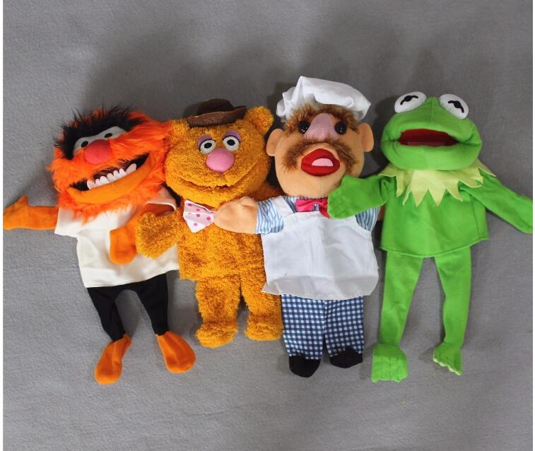 The Muppets Puppet Kermit Frog Fozzie Bear Swedish Chef Plush Toy 28cm Hand Puppets Cute Stuffed