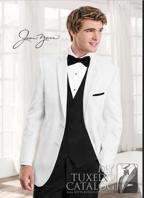White Wedding Suits For Men 2017 New Design Two Buttons Groom ...