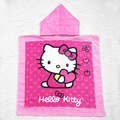 Baby kids Children's Hello kitty cartoon Hooded Towel Cotton Hoodie Towel Hoody Towel Cloak Beach Bath Towels for Kids GYH