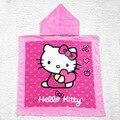 Towel hello kitty con capucha de la historieta del bebé niños de algodón con capucha capa hoody towel beach towel toallas de baño para niños gyh