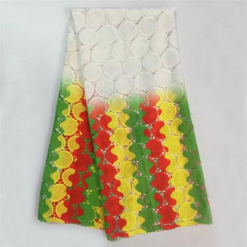 Visokokakovostna čipka iz guipure, afriška mlečna svilena vrvica, - Umetnost, obrt in šivanje