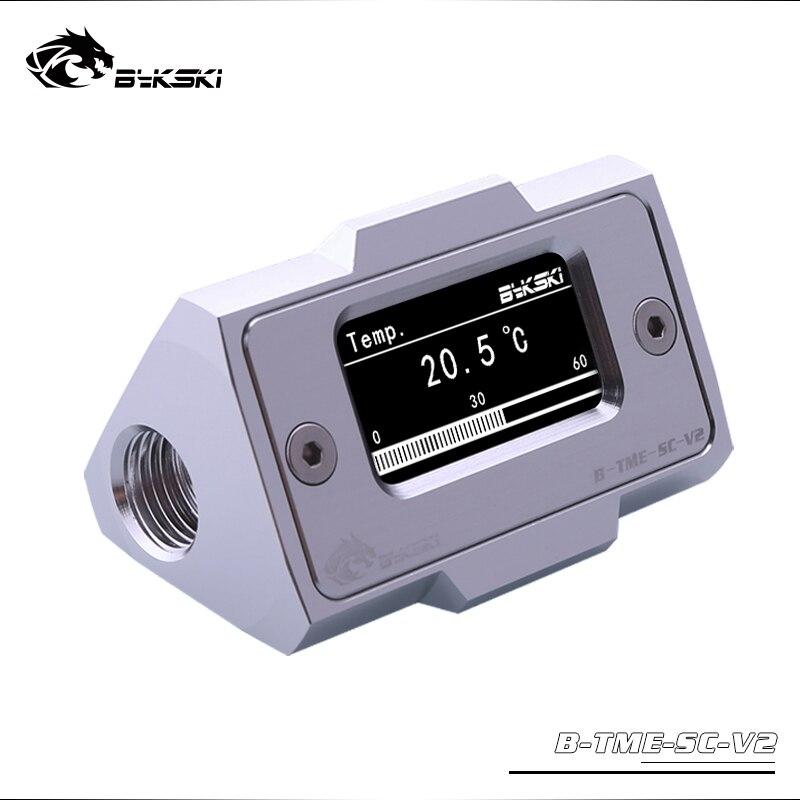 Bykski OLED affichage numérique compteur de température de L'eau refroidisseur d'eau Système Double G1/4 ''Thermomètre Température Capteur Montage - 2