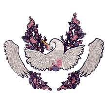 Cartoon Swan Flowers Wing Patch Vintage Embroidered Applique Fashion  Clothing Decoration Sew On Patch Accessories Motif 03d6b8674d12