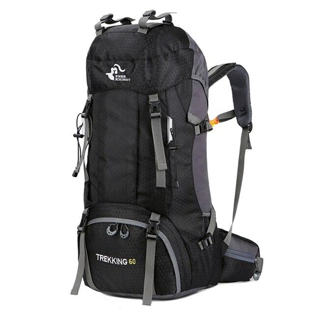 Новый 50L & 60L Открытый Рюкзак Кемпинг альпинистская сумка водонепроницаемый альпинистские походные рюкзаки Molle спортивная сумка рюкзак для ...