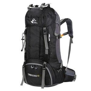 Image 1 - Nowy plecak 50L i 60L Camping torba wspinaczkowa wodoodporne górskie plecaki górskie Molle torba sportowa wspinaczka plecak