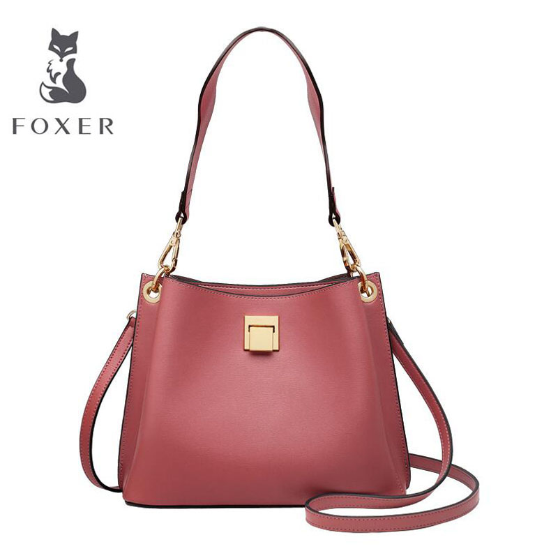 FOXER 2019 New women leather bag luxury handbags designer bag leather handbags fashion Bucket bag women leather shoulder bagFOXER 2019 New women leather bag luxury handbags designer bag leather handbags fashion Bucket bag women leather shoulder bag