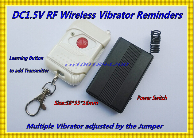 DC1.5V Vibrator RF Wireless Remote Control Vibrator Reminders Momentary 315/433 1CH (2CH 3CH 4CH 6CH 8CH ) Adjusted by Jumper