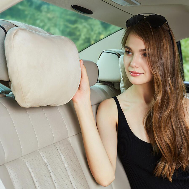 Maybach Design S Class Super Soft Car Headrest   Auto Seat Cover Head Neck Rest Cushion  Adjustable Car Pillow For Most models