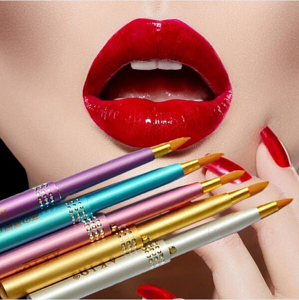 Fancy Makeup Tools Women Portable Retractable Cosmetic Lip Brush Lipstick Gloss Drop Shipping MU-216