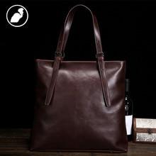 ETONWEAG New 2017 men brands business style luxury document shoulder bags cow leather brown zipper laptop fashion handbags