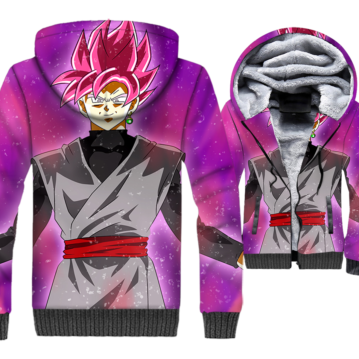 Dragon Ball Trunks 3D Print Hoodie Men Japan Anime Super Saiyan Hooded Sweatshirt Harajuku Coat Winter Fleece Vegeta Jacket Mens