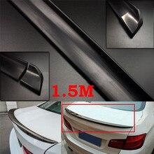 1,5 м внешний задний спойлер, комплект, автомобильный Стайлинг, авто аксессуары, универсальный задний спойлер, углеродное волокно, резина, Автомобильный задний спойлер