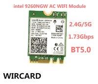 Tarjeta de red inalámbrica para ordenador portátil, tarjeta de red Wifi de 1730Mbps, 9260NGW, Intel 9260, banda Dual, NGFF 2x2, 802.11ac, Wifi, BT 5,0, Windows 10
