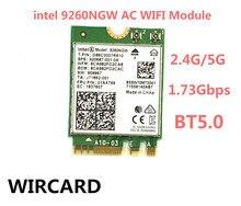 Placa de rede sem fio 1730mbps 9260ngw, placa de rede intel 9260 banda dupla ngff 2x2 802.11ac wifi bluetooth 5.0 para laptop windows 10