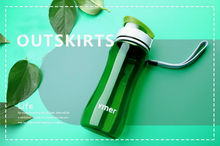 Newest 560ml590ml Plastic Water Bottle Simple Design Leak-proof Portable Sports Travel Space