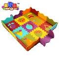 Бесплатная отправка мягкая ева головоломки мат ребенка играть ковер фрукты мультфильм здоровья коврик для детей