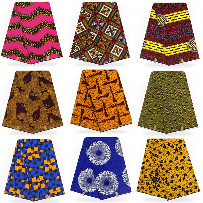 6 yards/piece! 2018 new arrival 100 cotton African wax cloth hollandais wax african super dutch !T011001