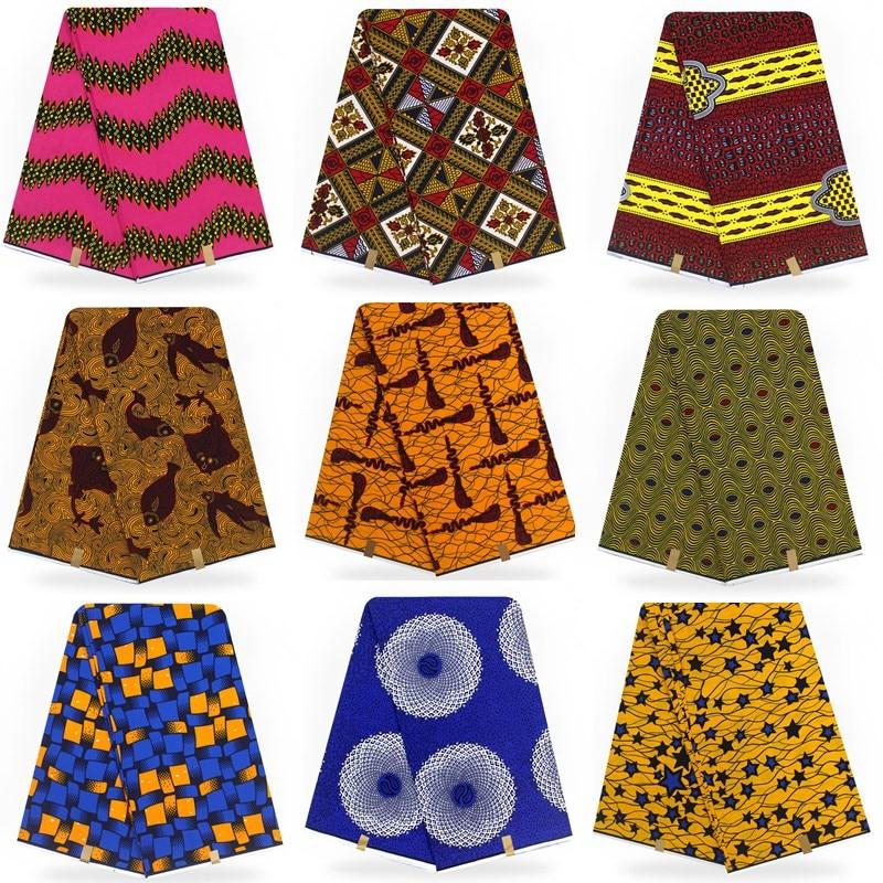 6 yards/piece! 2019 new arrival 100 cotton African wax cloth hollandais wax african dutch !T011001