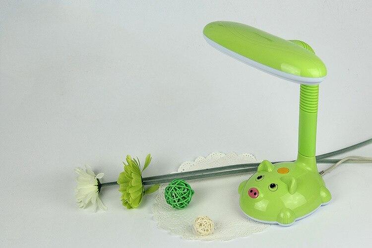 Креативный светодиодный мультфильм кролик настольная лампа защиты глаз Гибкая подключить ночники чтения энергосберегающая лампа настоль... ...