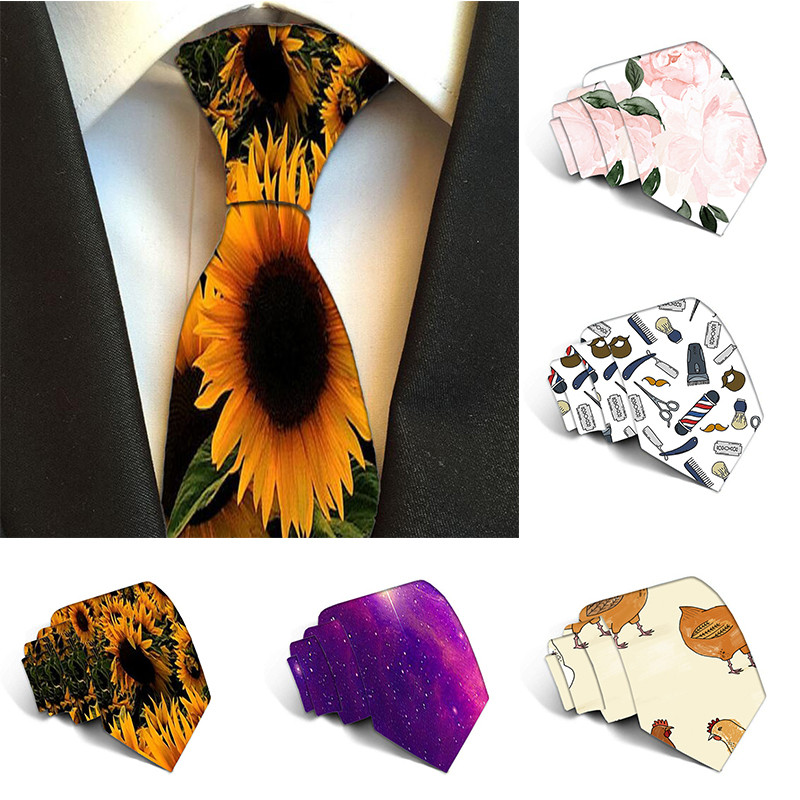 Free Shipping Classic Fashion Men's Tie Festival Printed Music Floral  Polyester 8cm Ties For Men Width Necktie Gravatas 5S-LD34