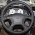 Black Leather Hand-stitched Car Steering Wheel Cover for Citroen Elysee c-elysee Citroen Xsara Picasso