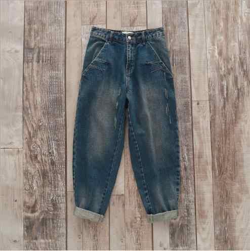 2019 весенние Джинсы бойфренда шаровары женские брюки ретро плюс размер туника подходят винтажные джинсовые брюки джинсы с высокой талией 3XL E724