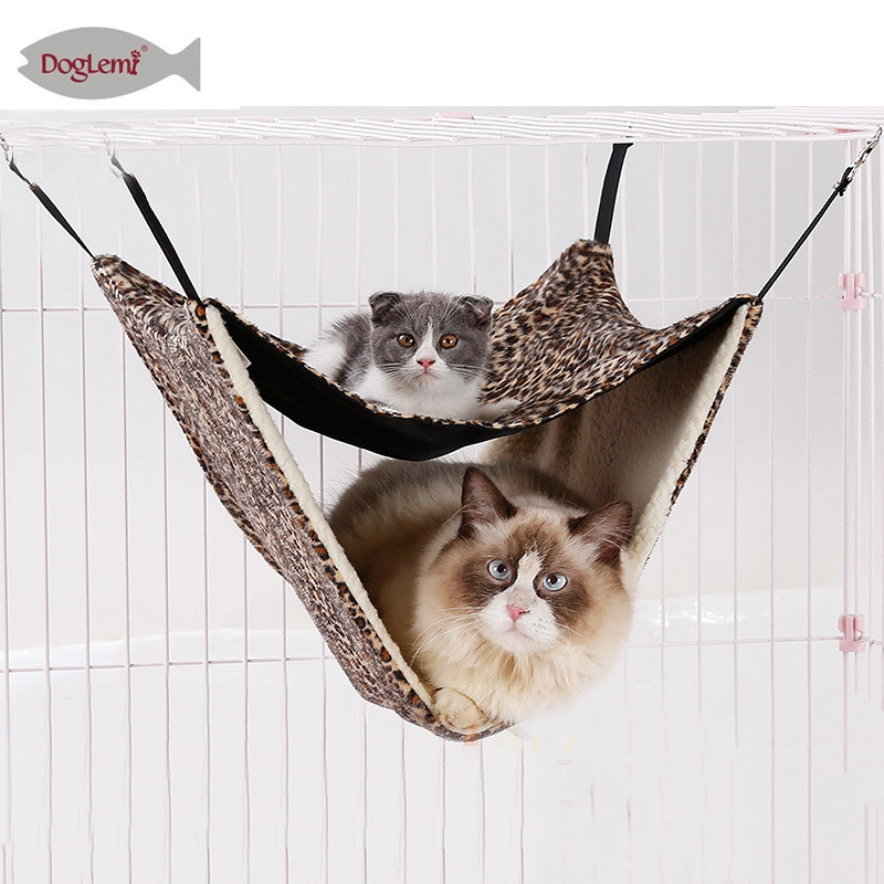 Nice Whism Mesh Cat Cage Hammocks Double Layers Hanging Beds Dog Hanging Bed Hamsters Mat Cat Hammocks Soft Beds Mats Pet Supplies Home & Garden