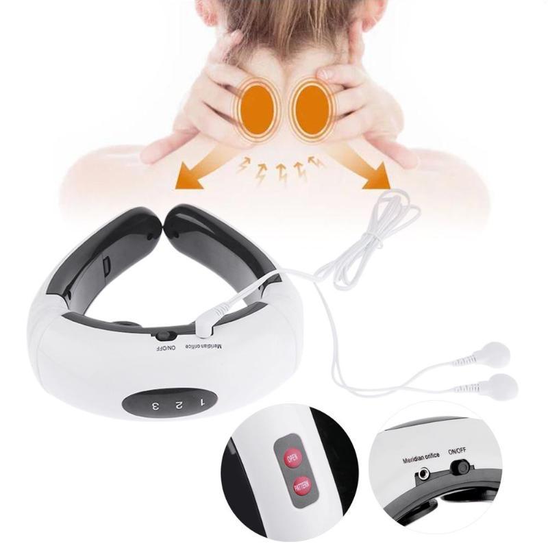 купить Intelligent Cervical Vertebra Instrument Electric Neck Massager Magnetic Therapy Massager Spine Pain Relief по цене 856.77 рублей